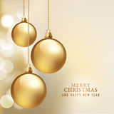 Merry Christmas And Happy New Year Card Royalty Free Stock Photos