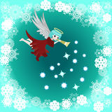 Merry Christmas angel Stock Photography
