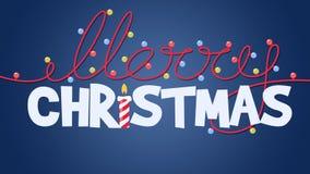 Merry Christmas animated titles.