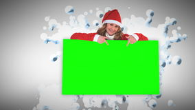 Merry Christmas animation with stars Royalty Free Stock Images