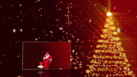 Merry christmas animation stock video footage