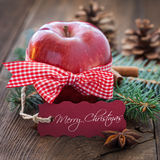 Merry christmas apple Royalty Free Stock Photo