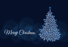 Vector dark blue illustrations Merry Christmas Stock Photo