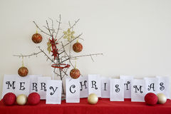 Merry Christmas Arrangement Royalty Free Stock Images