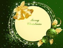 Merry Christmas background. A gold Merry Christmas background royalty free illustration