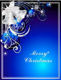 Merry Christmas background. Vector silver Merry Christmas background royalty free illustration
