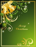 Merry Christmas background. Vector gold Merry Christmas background stock illustration