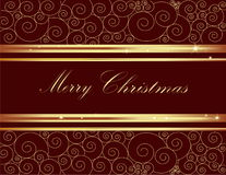 Merry Christmas background. Vector gold Merry Christmas background royalty free illustration