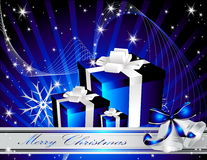 Merry Christmas background. Silver and blue Merry Christmas background stock illustration