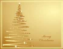 Merry Christmas background. Gold Vector Merry Christmas background Royalty Free Illustration