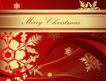 Merry Christmas background. Red and gold Merry Christmas background vector illustration