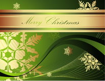 Merry Christmas background. Green and gold Merry Christmas background royalty free illustration