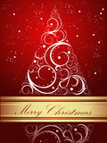 Merry Christmas background. Red and gold Merry Christmas background royalty free illustration