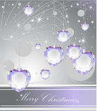 Merry Christmas background. With diamonds Vector Illustration