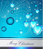 Merry Christmas background. Silver and blue Stock Photos