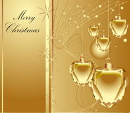 Merry Christmas background. Gold Merry Christmas background with diamonds Vector Illustration