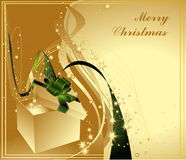 Merry Christmas background. Green and silver Stock Photo