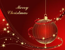 Merry Christmas background. With gold stars Royalty Free Stock Photo