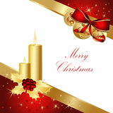Merry Christmas background. Gold and red Royalty Free Stock Photography