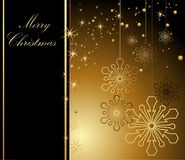 Merry Christmas background. Gold with stars Royalty Free Stock Photography