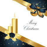 Merry Christmas background. Gold with stars Stock Image