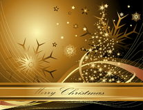 Merry Christmas background. Gold with stars Stock Images