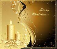 Merry Christmas background. Gold and black Royalty Free Stock Photography