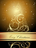 Merry Christmas background. With gold gradient Stock Photos