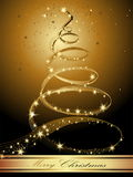 Merry Christmas background. Gold with stars Royalty Free Stock Images