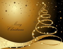 Merry Christmas background. Gold with stars Royalty Free Stock Photo