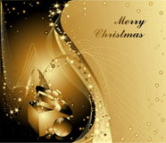 Merry Christmas background. Gold with stars Stock Photo