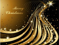 Merry Christmas background. Gold and black Stock Photography