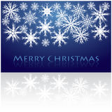 Merry Christmas background. Merry Christmas blue backgroundwith snowflakes Royalty Free Stock Image