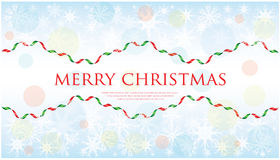 Merry Christmas background. With snowflakes Royalty Free Stock Photography