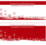 Merry Christmas Background. Red-white Christmas and New Year's background Stock Photos