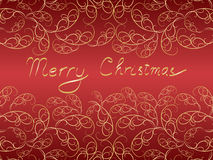 Merry Christmas background. Merry Christmas postcard with vintage curves vector illustration Stock Image
