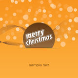 Merry Christmas background. Orange on the ground for merry christmas Royalty Free Stock Images