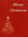 Merry Christmas background. A red background with a Christmas tree and the words Merry Christmas Stock Images