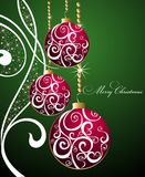 Merry Christmas background with balls Royalty Free Stock Images