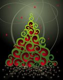 Merry Christmas background with bells and holly Stock Photography