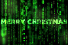 Merry Christmas background binary texture matrix theme Royalty Free Stock Photography