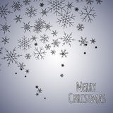 Merry Christmas background with black snowflakes. Stock Photos