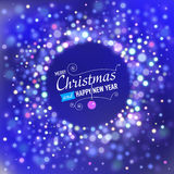 Merry Christmas Background with bokeh lights. Royalty Free Stock Images