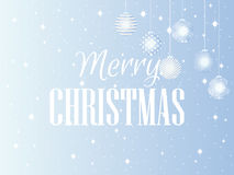 Merry Christmas. Background with Christmas balls and snowflakes. Vector Royalty Free Stock Photos