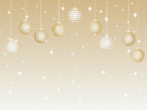 Merry Christmas. Background with Christmas balls and snowflakes. Vector Royalty Free Stock Photo