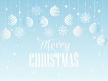 Merry Christmas. Background with Christmas balls and snowflakes. Vector Stock Photos