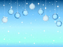 Merry Christmas. Background with Christmas balls and snowflakes. Vector Stock Photography