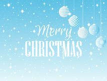 Merry Christmas. Background with Christmas balls and snowflakes. Vector Royalty Free Stock Photography