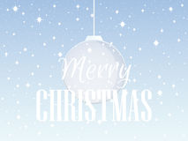 Merry Christmas. Background with Christmas balls and snowflakes. Vector Royalty Free Stock Image