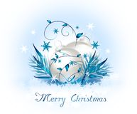 Merry Christmas background with christmas bulbs Stock Photography